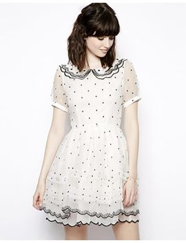 nishe-allover-polka-dot-collar-prom-dress by nishe