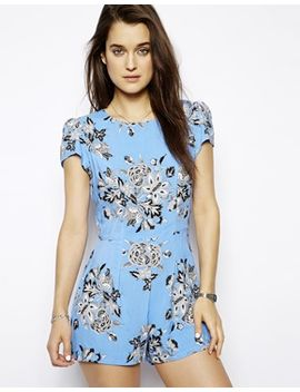 motel-hoppy-playsuit-in-morris-flower-print by motel
