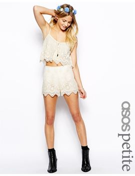 asos-petite-exclusive-embroidery-mesh-shorts by asos