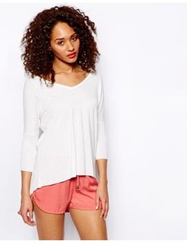 neppy-curve-hem-3_4-sleeve-top by new-look