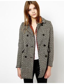 le-breasted-patterned-coat by pull&bear