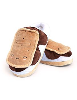 s'mores-usb-heated-plush-slippers by think-geek