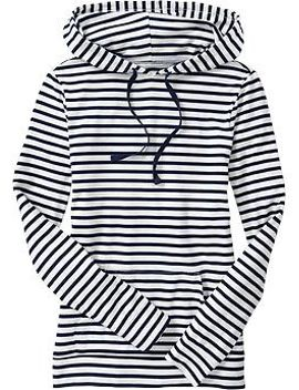 womens-striped-hooded-pullovers by old-navy