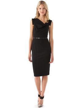 jackie-o-belted-dress by black-halo