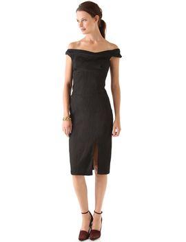 off-the-shoulder-jackie-o-dress by black-halo