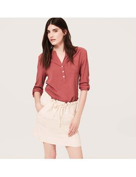 tab-sleeve-henley-blouse by loft
