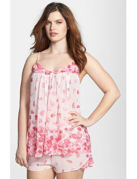 sleepwear-rose-petals-short-pajamas by oscar-de-la-renta