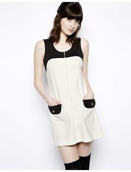 pop-boutique-color-block-shift-dress by pop-boutique