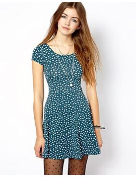 new-look-heart-print-skater-dress by new-look