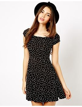 new-look-spot-print-skater-dress by new-look