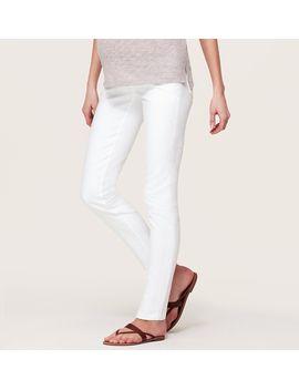 maternity-skinny-jeans-in-white by loft
