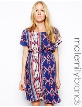 mamalicious-printed-waisted-dress by mamalicious