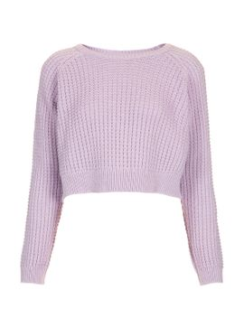 fisherman-crop-sweater by topshop