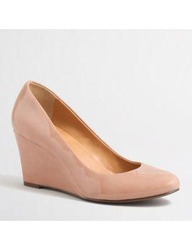 sylvia-patent-wedges by jcrew