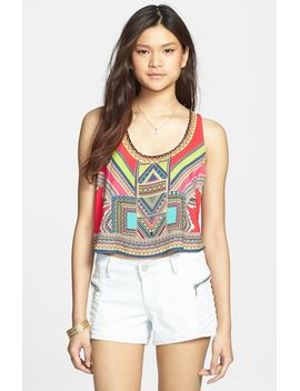 cutout-print-crop-tank by flying-tomato
