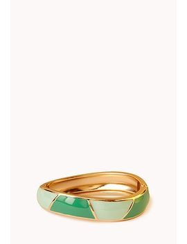 Geo Chic Hinged Cuff by Forever 21
