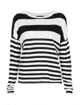 boxy-engineered-stripe-tee by topshop