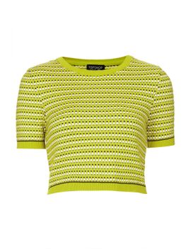 knitted-textured-crop-top by topshop