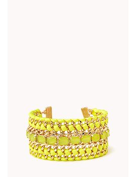 Glam Girl Woven Chain Bracelet by Forever 21