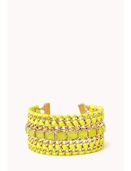 glam-girl-woven-chain-bracelet by forever-21