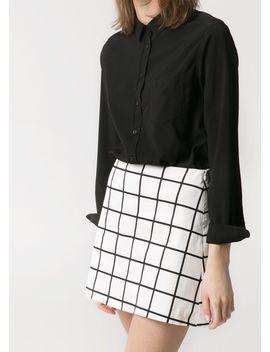 check-monochrome-skirt by mango