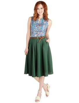 breathtaking-tiger-lilies-midi-skirt by modcloth