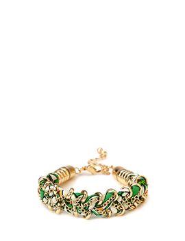 Woven Hoops Bracelet by Forever 21
