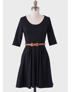 burlington-arcade-belted-dress-in-black by ruche