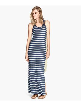 linen-blend-maxi-dress by h&m