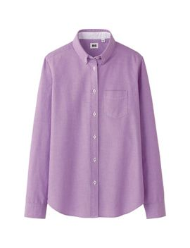 women-oxford-long-sleeve-shirt by uniqlo