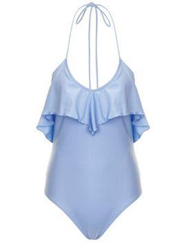 south-beach-swimwear-powder-blue-low-back-frill-swimsuit by lavish-alice