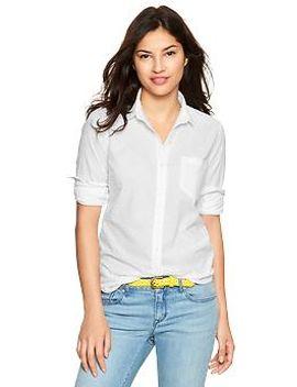 fitted-boyfriend-swiss-dot-shirt by gap