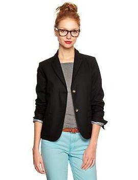 classic-pique-blazer by gap