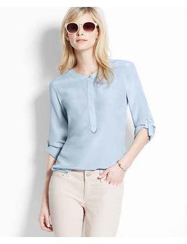tab-sleeve-silk-blouse by ann-taylor