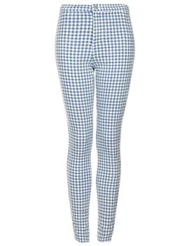 moto-blue-gingham-joni-jeans by topshop
