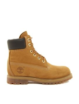 timberland-6-inch-premium-lace-up-beige-flat-boots by timberland-