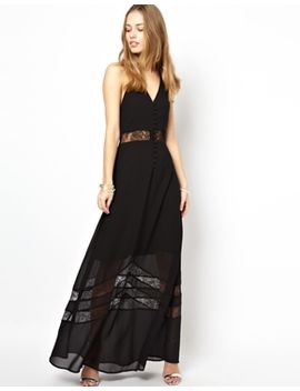 jarlo-sienna-maxi-dress-with-lace-hem-insert by jarlo