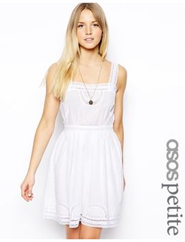 asos-petite-exclusive-dress-with-pretty-cotton-lace-trim by asos