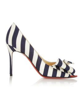 just-soon-85-striped-canvas-pumps by christian-louboutin