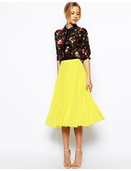 asos-pleated-midi-skirt by asos-collection
