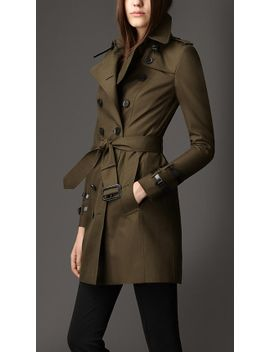 mid-length-leather-detail-gabardine-trench-coat by burberry