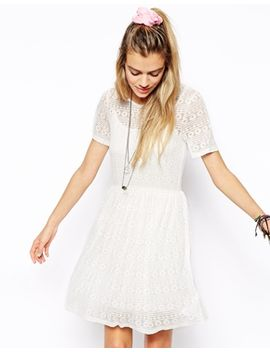 asos-skater-dress-in-floral-burnout by asos-collection
