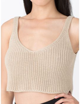 knitted-crop-tank by american-apparel