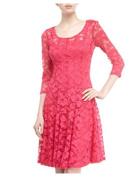 long-sleeve-lace-cocktail-dress,-geranium by chetta-b
