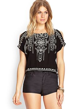 Tribal Print Woven Top by Forever 21