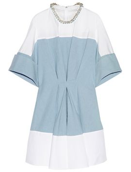 embellished-poplin,-chambray-and-crepe-de-chine-mini-dress by 31-phillip-lim