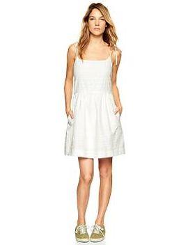stripe-strappy-fit-&-flare-dress by gap