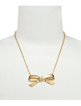 kate-spade-new-york-goldtone-bow-pendant-necklace by generic