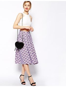asos-full-midi-skirt-in-baroque-floral-jacquard by asos-collection