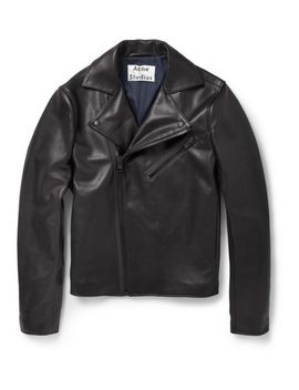 gibson-slim-fit-leather-biker-jacket by acne-studios